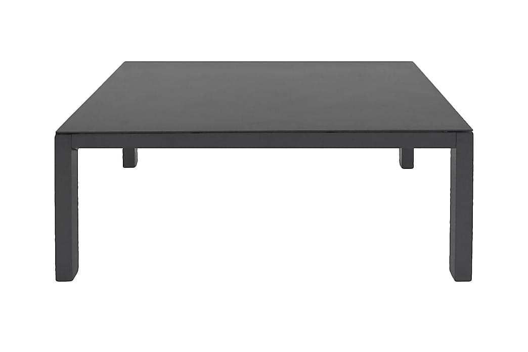 Sohvapöytä Dusternbrook 120x70 - Lasi/Musta - Puutarhakalusteet - Terassipöydät - Lounge pöydät