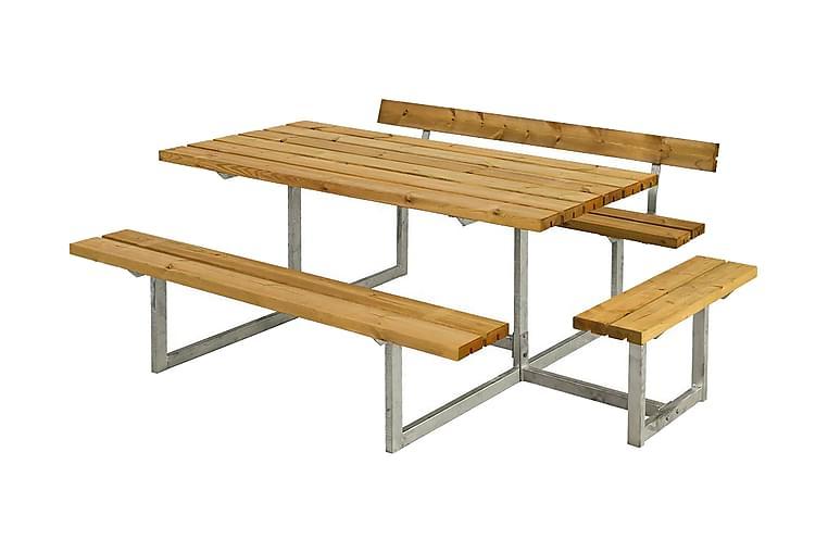Basic Pöytä- ja penkkisetti 1 selkänojalla + 1 runko - Puutarhakalusteet - Valitse materiaalin mukaan - Puu & tiikki