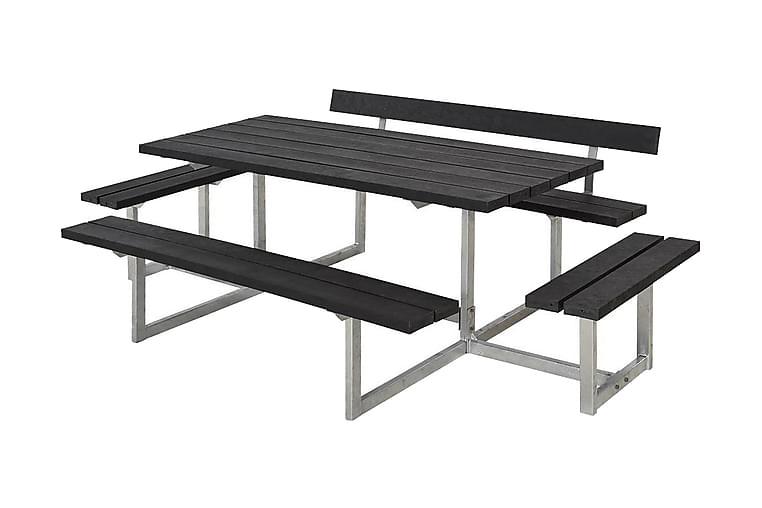 Basic Pöytä- ja penkkisetti 1 selkänojalla + 2 runkoa - Puutarhakalusteet - Terassipöydät - Piknikpöydät