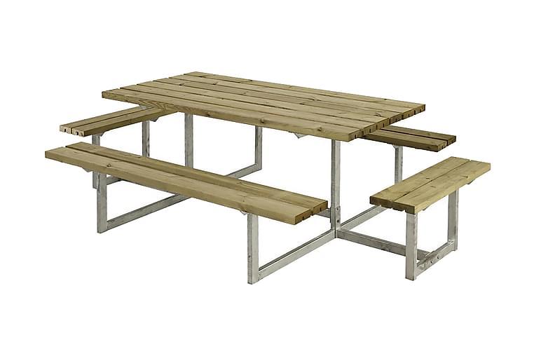 Basic Pöytä- ja penkkisetti Täydellinen 2 rungolla - Puutarhakalusteet - Valitse materiaalin mukaan - Puu & tiikki