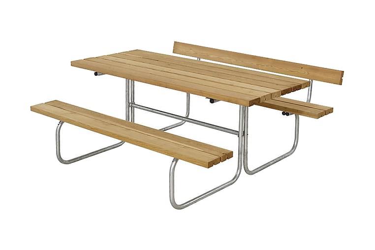 Classic Pöytä- ja penkkisetti 1 selkänojalla L: 166 P: 177 K - Puutarhakalusteet - Valitse materiaalin mukaan - Puu & tiikki