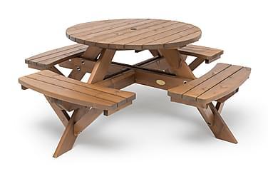 Picnic Pöytä Pyöreä 110 cm Ruskea