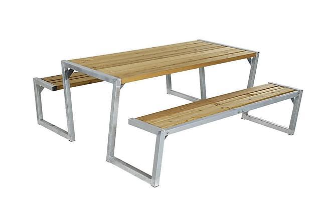 Zigma setti laudoilla - Luonnonvärinen - Puutarhakalusteet - Terassipöydät - Piknikpöydät