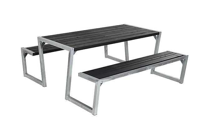 Zigma setti laudoilla - Musta - Puutarhakalusteet - Terassipöydät - Piknikpöydät