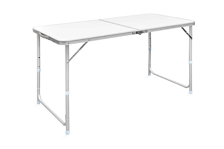 Kokoontaitettava retkipöytä 120 x 60 cm alumiini - Valkoinen - Puutarhakalusteet - Terassipöydät - Retkipöydät