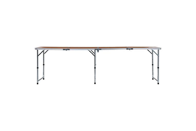 Kokoontaitettava retkipöytä alumiini 240x60 cm - Puutarhakalusteet - Terassipöydät - Retkipöydät