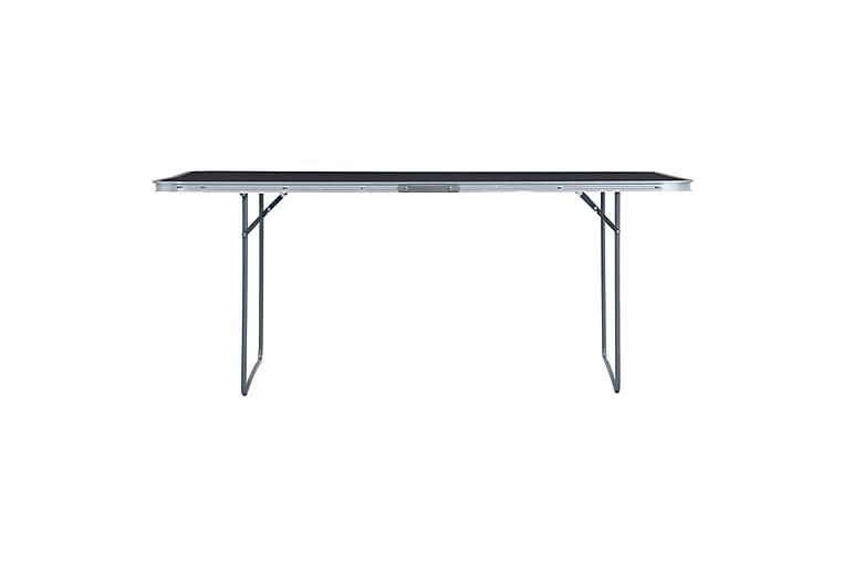Kokoontaitettava retkipöytä harmaa alumiini 240x60 cm - Puutarhakalusteet - Terassipöydät - Retkipöydät