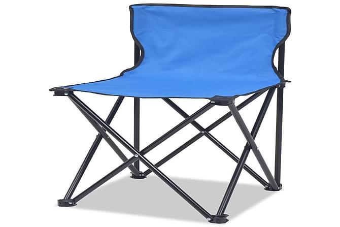Leirihuonekalusarja 5-osaa Sin. Teräs 45x45x70 cm - Sininen - Puutarhakalusteet - Terassipöydät - Retkipöydät