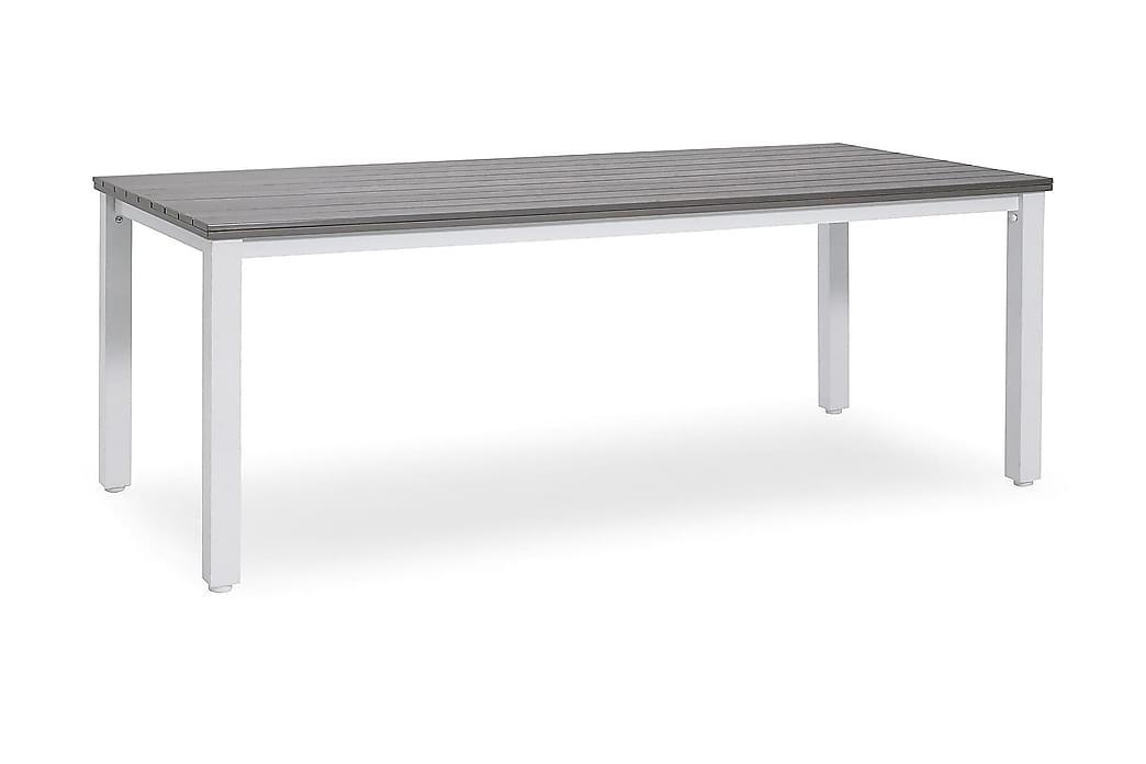 Pöytä Arlöv 90x200 cm Valkoinen/Harmaa - Puutarhakalusteet - Terassipöydät - Ruokapöytä terassille