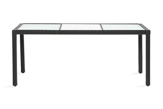 Pöytä Aruba 180 cm - Musta - Puutarhakalusteet - Terassipöydät - Ruokapöytä terassille