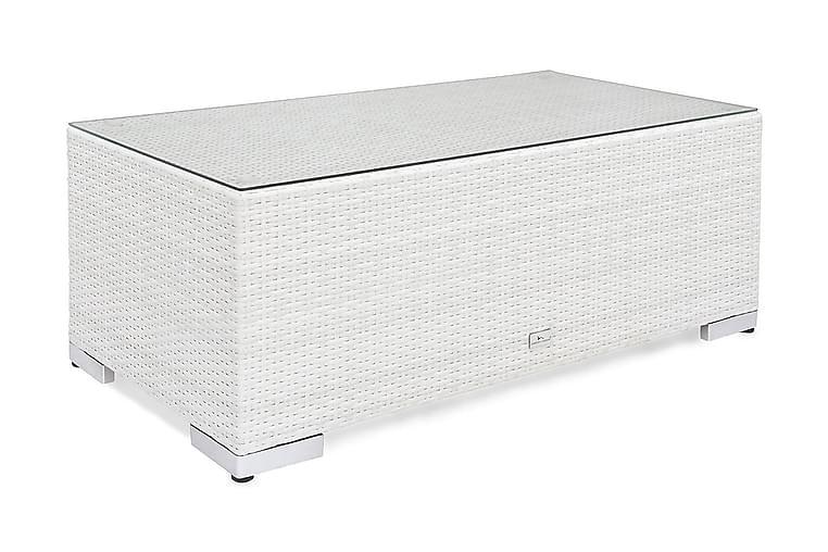 Pöytä Bahamas 113 cm - Valkoinen - Puutarhakalusteet - Terassipöydät - Ruokapöytä terassille