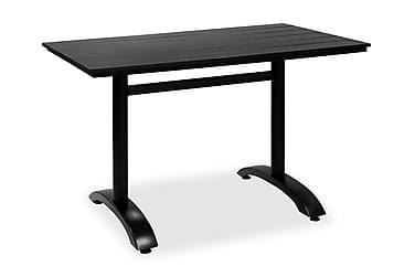 Pöytä Brighton 70x120 cm Musta