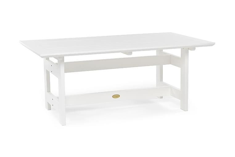 Pöytä Herrgård 165 cm Valkoinen - Puutarhakalusteet - Terassipöydät - Ruokapöytä terassille