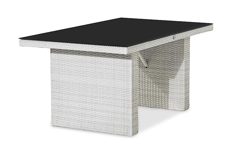 Pöytä James 145 cm - Valk/Lasi - Puutarhakalusteet - Terassipöydät - Ruokapöytä terassille