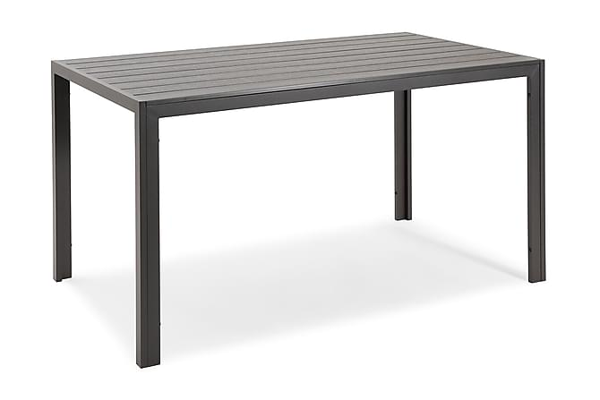 PÖYTÄ NYDALA 85X140 CM - Musta/musta - Puutarhakalusteet - Terassipöydät - Ruokapöytä terassille
