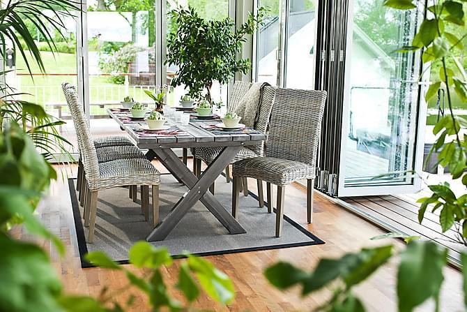 Pöytä Shabby Chic Harmaa - 195x86 cm - Puutarhakalusteet - Terassipöydät - Ruokapöytä terassille