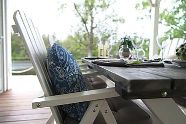 Pöytä Shabby Chic Harmaa/Valkoinen