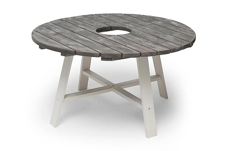 Pöytä Shabby Chic Sinkkisankolla Harmaa/Valkoinen - Ø138 cm - Puutarhakalusteet - Terassipöydät - Ruokapöytä terassille