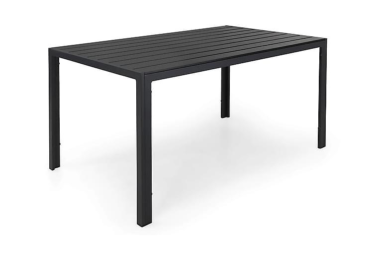 Pöytä Tunis 150x90 cm - Musta - Puutarhakalusteet - Terassipöydät - Ruokapöytä terassille