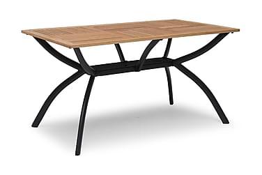 Pöytä Viren 80x140 cm Musta alumiini/saarni