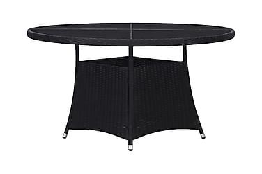 Puutarhapöytä 110x74 cm polyrottinki musta