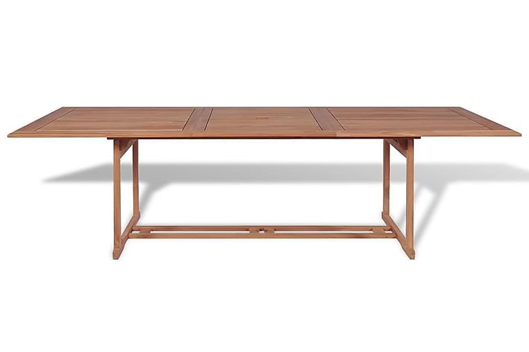Puutarhapöytä 180x90x75 cm tiikki - Ruskea - Puutarhakalusteet - Terassipöydät - Ruokapöytä terassille