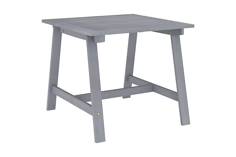 Puutarharuokapöytä harmaa 88x88x74 cm täysi akaasiapuu - Puutarhakalusteet - Terassipöydät - Ruokapöytä terassille