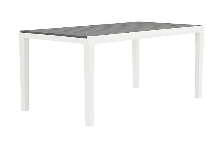 Ruokapöytä Agadir 160x90 cm - Harmaa/Valkoinen - Puutarhakalusteet - Terassipöydät - Ruokapöytä terassille