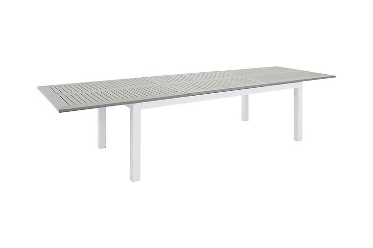 Ruokapöytä Albany Jatkettava 160 cm - Aintwood/Valkoinen - Puutarhakalusteet - Terassipöydät - Ruokapöytä terassille