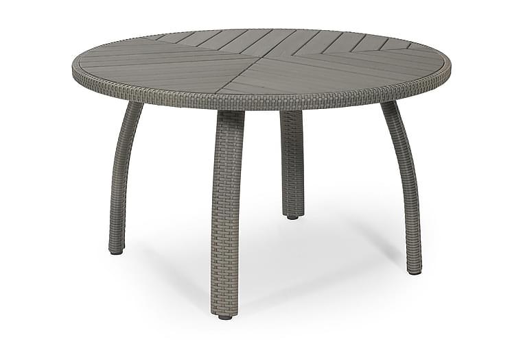 Ruokapöytä Calgary  Ø127 cm Harmaa - Puutarhakalusteet - Terassipöydät - Ruokapöytä terassille