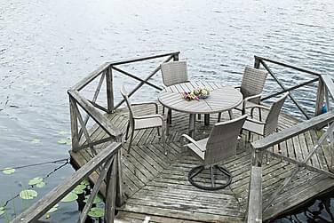 Ruokapöytä Calgary  Ø127 cm Harmaa
