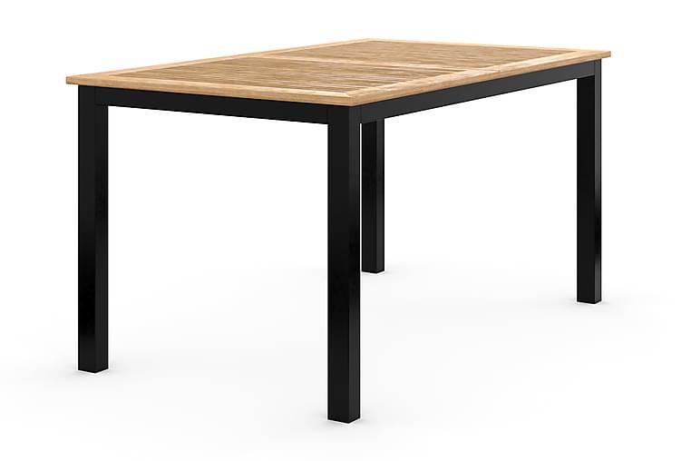 Ruokapöytä Las Vegas Jatkettava 152-210x90 cm - Musta/Tiikki - Puutarhakalusteet - Terassipöydät - Ruokapöytä terassille