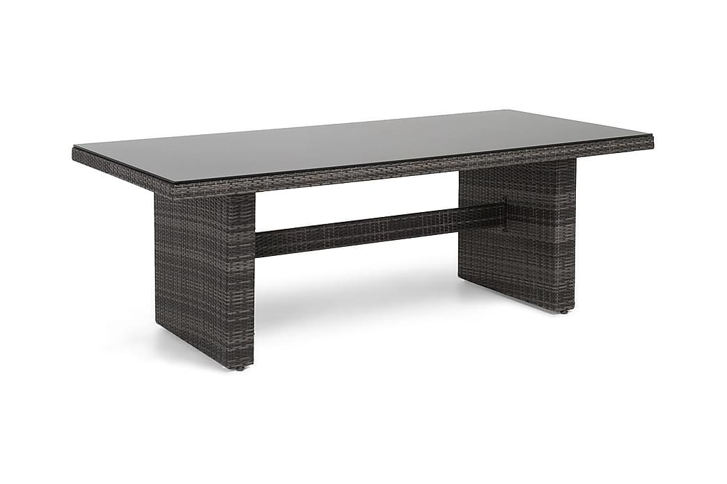 Ruokapöytä Majestic 210x100 cm - Harmaa - Puutarhakalusteet - Terassipöydät - Ruokapöytä terassille