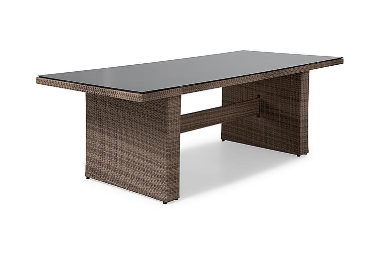 Ruokapöytä Majestic 210x100 cm - Hiekka - Puutarhakalusteet - Terassipöydät - Ruokapöytä terassille