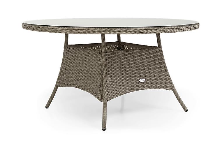 Ruokapöytä Marcus 140 cm Pyöreä - Harmaa - Puutarhakalusteet - Terassipöydät - Ruokapöytä terassille