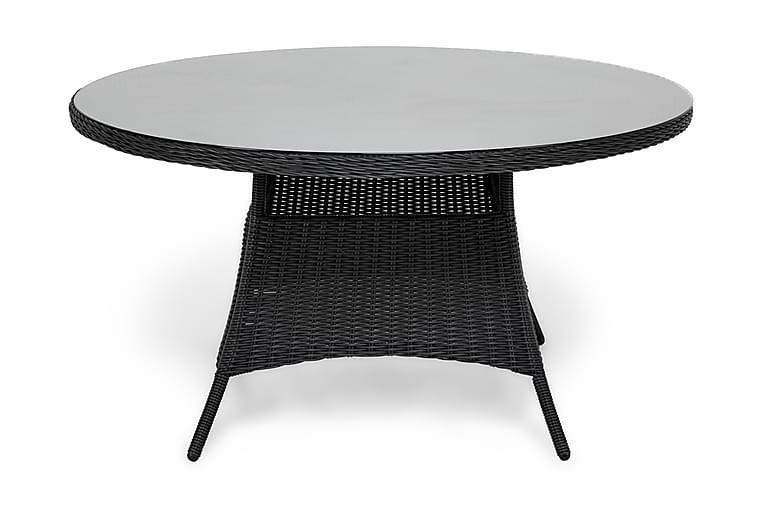 Ruokapöytä Marcus 140 cm Pyöreä - Musta - Puutarhakalusteet - Terassipöydät - Ruokapöytä terassille
