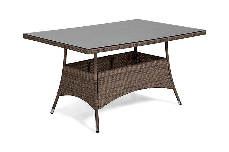 Ruokapöytä Thor 140x90 cm - Hiekka - Puutarhakalusteet - Terassipöydät - Ruokapöytä terassille