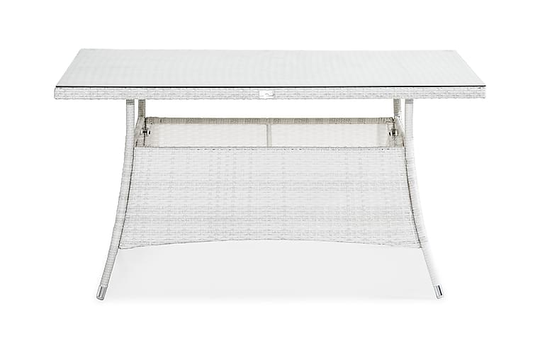 Ruokapöytä Thor 140x90 cm - Valkoinen - Puutarhakalusteet - Terassipöydät - Ruokapöytä terassille