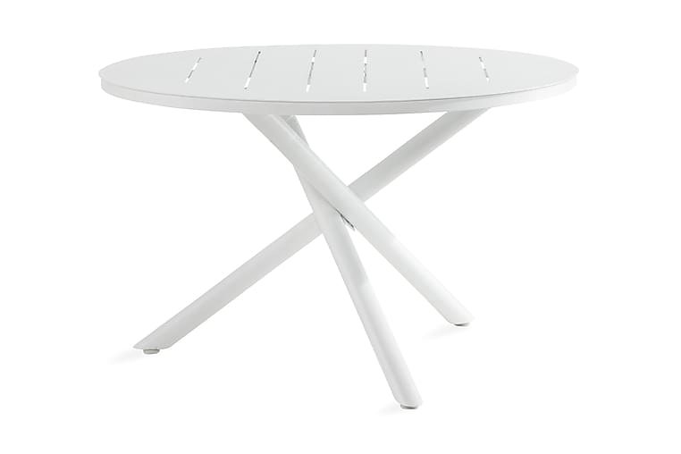 Space Ruokapöytä 120 cm Pyöreä - Valkoinen - Puutarhakalusteet - Terassipöydät - Ruokapöytä terassille