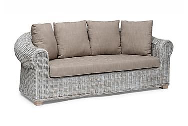 Sohva Leicester 2,5-istuttava Valkoinen/Harmaa