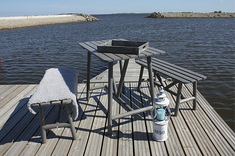 pöytä ja penkit Degersand - Harmaa - Puutarhakalusteet - Sohvat & penkit - Penkit ulos