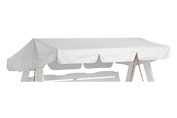 Keinun katto Valkoinen - Polyesteri/PU - Puutarhakalusteet - Sohvat & penkit - Pihakeinut