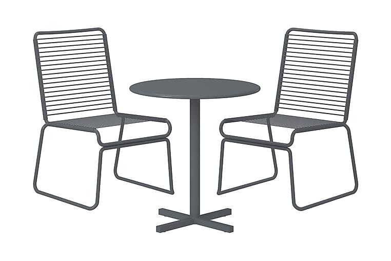 Kahvilasetti Nyla 66 cm + 2 tuolia Harmaa - CosmoLiving - Puutarhakalusteet - Ulkotilan ruokailuryhmät - Cafe-ryhmä
