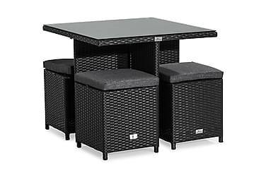 Pöytä James raheilla 80x80 cm