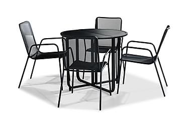 Parvekeryhmä Flippy 90 Pyöreä + 4 Jean tuolia