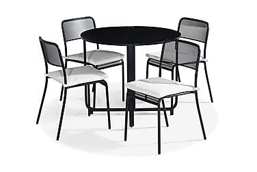 Parvekeryhmä Flippy 90 Pyöreä + 4 Logan tuolia Pehmuste