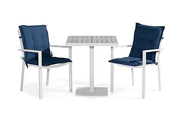 Parvekeryhmä Tunis 70x70 + 2 tuolia Pehmuste