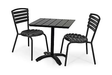 Parvekesetti Hillerstorp Brighton 70x70 + 2 pinott tuolia
