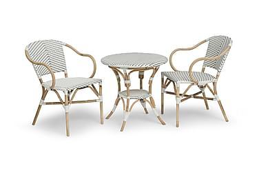 Parvekesetti Hillerstorp Select 69 Pyöreä + 2 tuolia