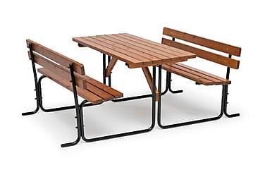 Picnic Pöytä Teräsrungolla 70x150 cm Ruskea